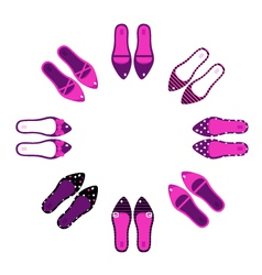 retro shoes vector image