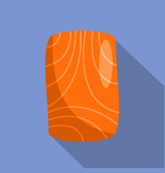 Salmon fillet icon flat style vector