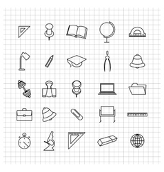 School set of icons vector image