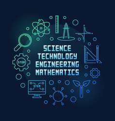 science technology engineering and math circular vector image