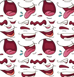 Seamless different expressions of mouth vector