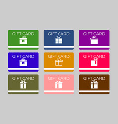 set gift card template for shop or business vector image