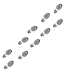 Shoe print track vector image