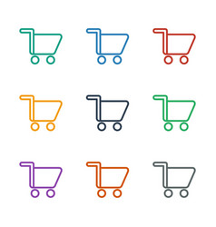 Shopping cart icon white background vector