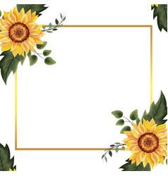 spring floral frame vector image