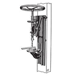Standard drill press vintage vector