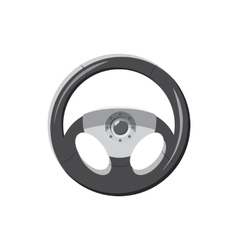 Steering wheel icon in cartoon style vector