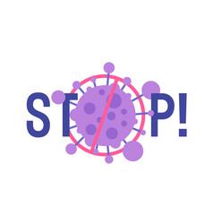 stop coronavirus concept noel 2019-ncov virus cell vector image
