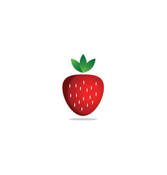 strawberry fruit logo template vector image