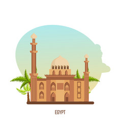 Stylistic masterpiece is monument of architecture vector