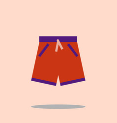 swim short icon swimming trunks flat design vector image