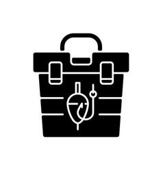 tackle box black glyph icon vector image