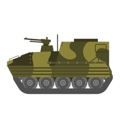 Tank isolated vector