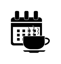 Tea meeting event date icon icon simple element vector