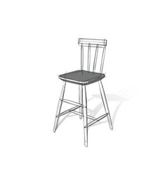 technical drawing a bar stool in an vector image