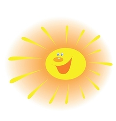 The stylized image of a smiling sun with rays vector