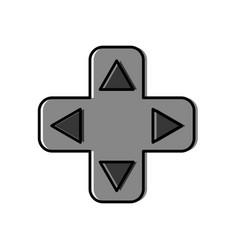 videogame controller arrows icon vector image
