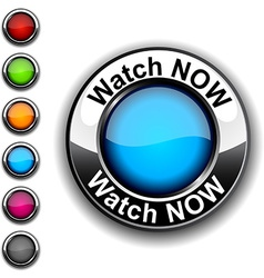 Watch now button vector