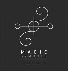 Web white esoteric symbol vector