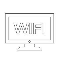Wifi tv icon design vector