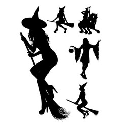 witch silhouette 01 vector image