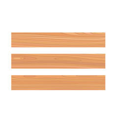 Wood plank isolated on white background board set vector