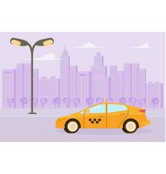 yellow taxi car vector image