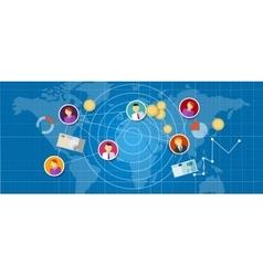 affiliate marketing multi level mlm network sales vector image