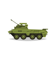 armored infantry vehicle exploration inspection vector image