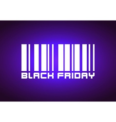 Barcode Labeled Black Friday vector image