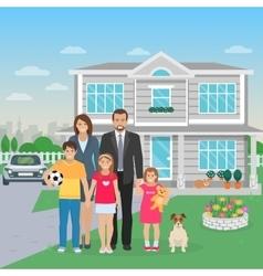 Family Members Flat vector image