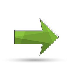 green arrow icon vector image