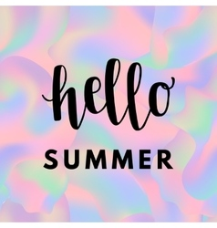 holographic summer background vector image vector image