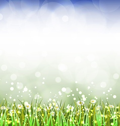 Magic spring background vector image