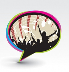 party speech bubble icon vector image vector image