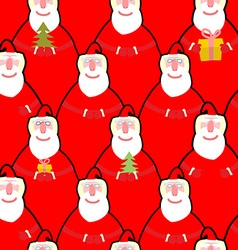 Santa Claus seamless pattern background for new vector image