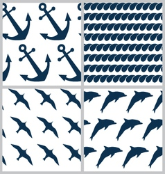Set of sea patterns vector image