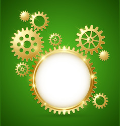 Cogwheel gear document template vector image vector image