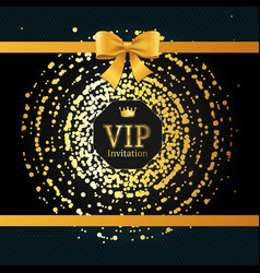 golden vip round sphere dotted background vector image vector image