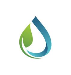 green water ecology logo vector image