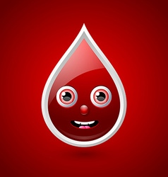 Red blood character icon vector image vector image