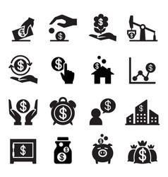 saving money icon vector image vector image