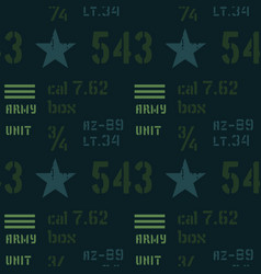 army unit abstract military pattern vector image vector image