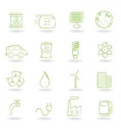 Ecofriendly icon vector