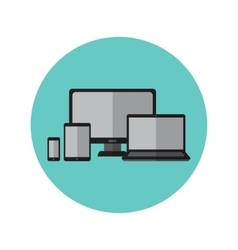 Electronic gadgets and devices icons vector image vector image