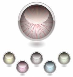 iris button collection vector image