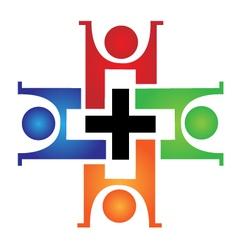 Medical teamwork logo vector image vector image