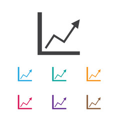 of investment symbol on graph vector image vector image