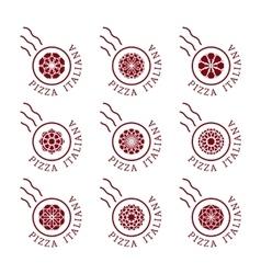 Pizzeria logo templates vector image vector image