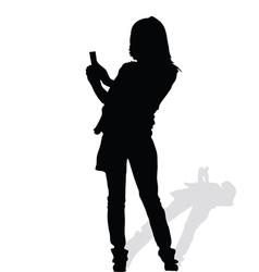 woman art silhouete vector image